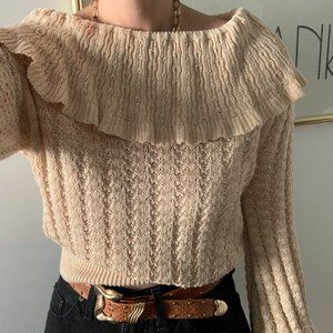 Free People Sweaters - Crazy In Love Ruffle Sweater Free People
